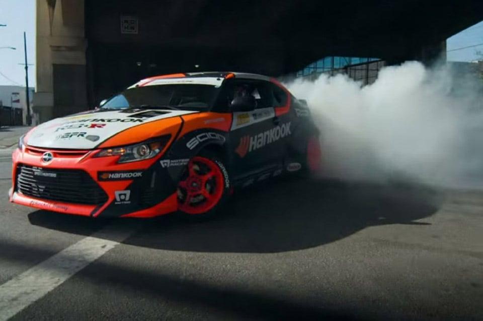 Scion tC RWD Drift Car Tears up LA Streets
