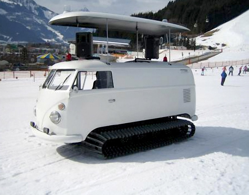 Volkswagen Bus Becomes A Snow Conquering Snowcat 95 Octane