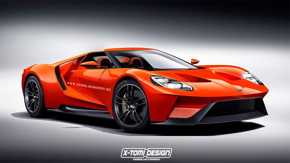 New Ford GT Rendered as a Spyder Concept
