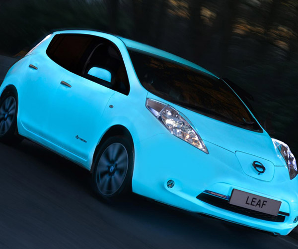 Nissan LEAF Is Cooler with Glow-in-the-Dark Paint