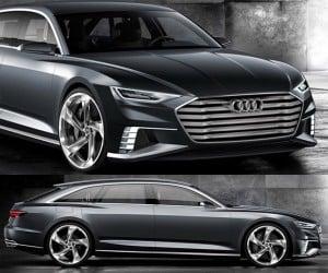 Audi Prologue Avant Shooting Brake Concept is a 455hp Hybrid