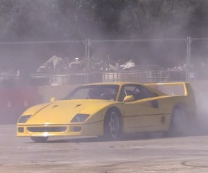 Watch a Ferrari F40 Burn Some Donuts