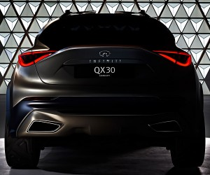 Infinity Teases QX30 Concept's Ample Backside