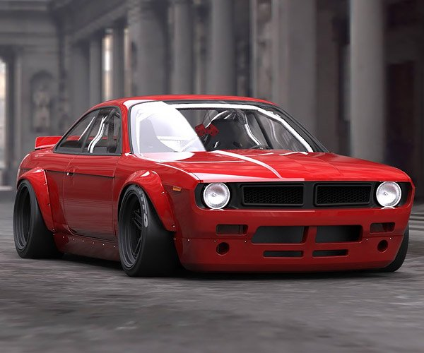 Rocket Bunny Combines 240SX and Barracuda