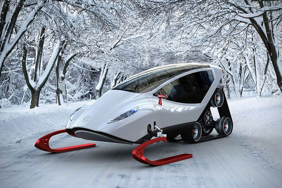 Snow Crawler Concept: A Snowmobile from the Future