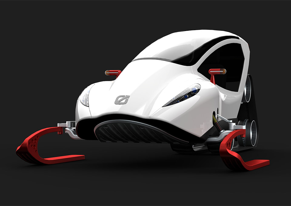 Snow Crawler Concept A Snowmobile From The Future