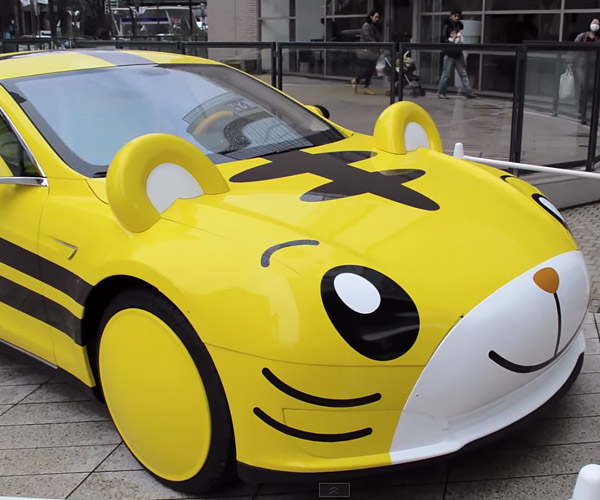 Anime Tiger Tesla Model S: Oh, Japan.
