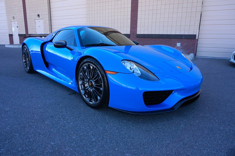 Beautiful Quot Voodoo Blue Quot Porsche 918 Spyder For Sale 95 Octane