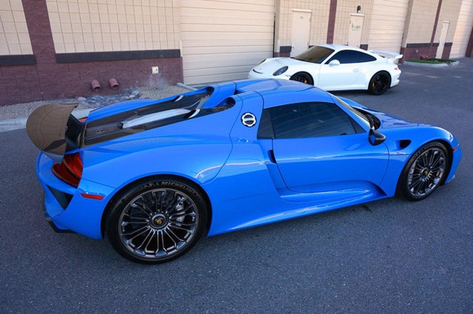 Beautiful Quot Voodoo Blue Quot Porsche 918 Spyder For Sale 95 Octane