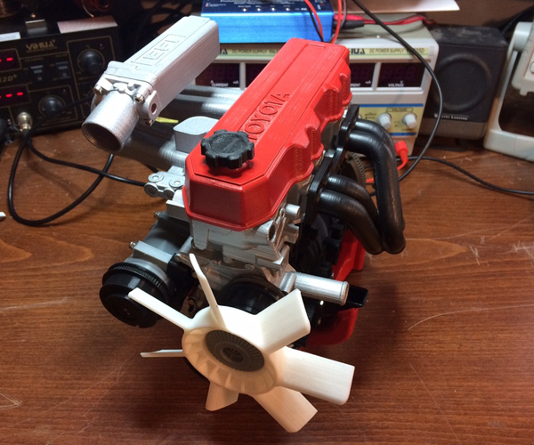 3D Printed Toyota Engine & Transmission Scale Models