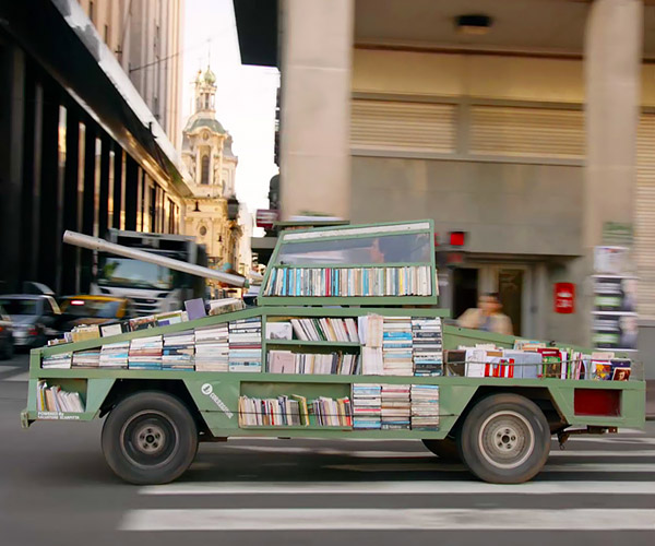 Ford Falcon Transformed into a Library Tank