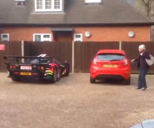 McLaren F1 GTR Long Tail Spooks Old Lady