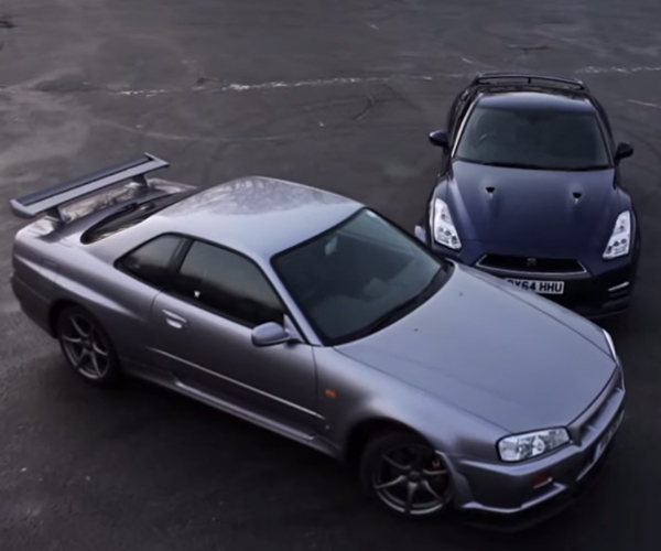 Nissan GT-R Skyline R34 & GT-R R35 Head to Head