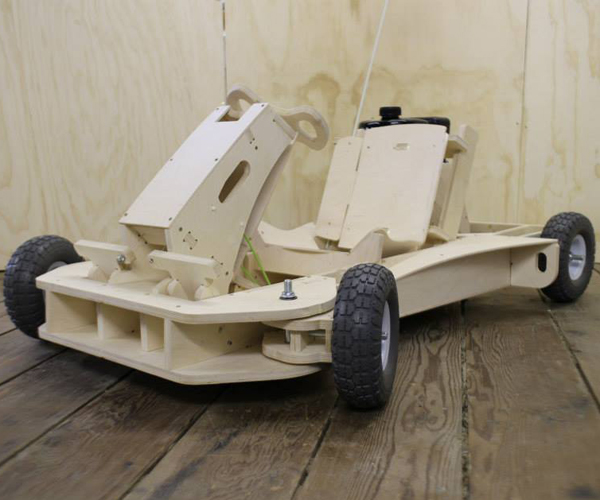PlyFly Flat Pack Plywood Go-Kart