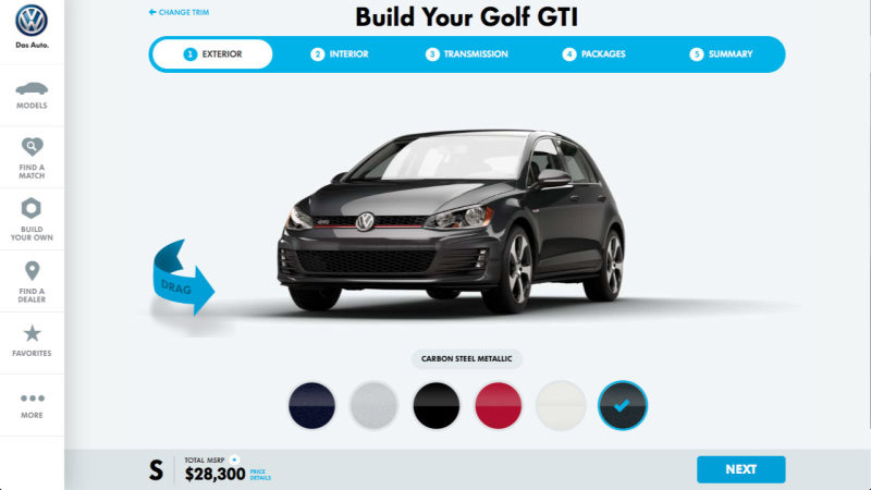 VW.com Website Get Its Configurator Back