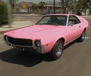 A Playmate Pink 1968 AMC AMX Rolls into Jay's Garage