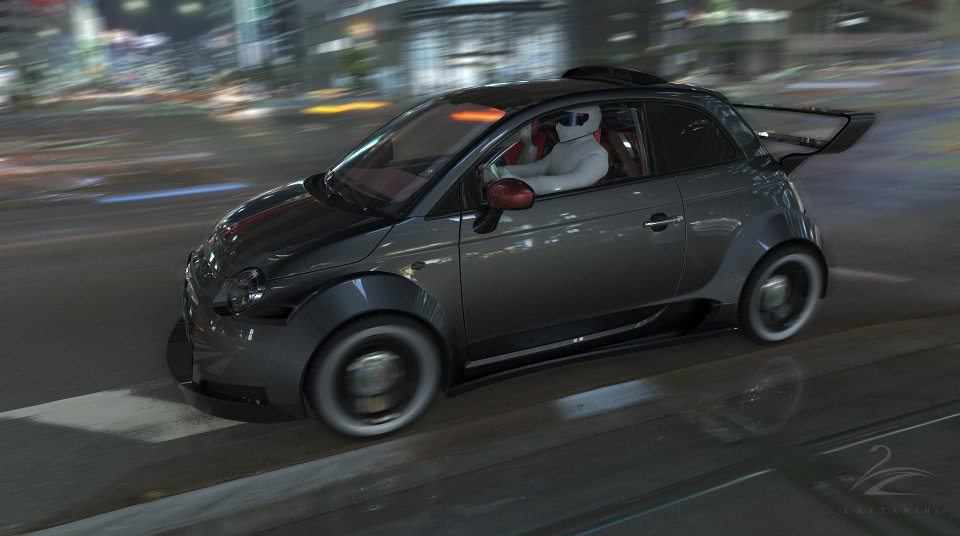 Lazzarini Wants to Make a Ferrari-engined Fiat 500