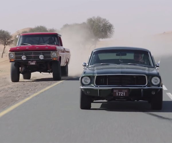 In the Desert with a '68 Mustang Fastback