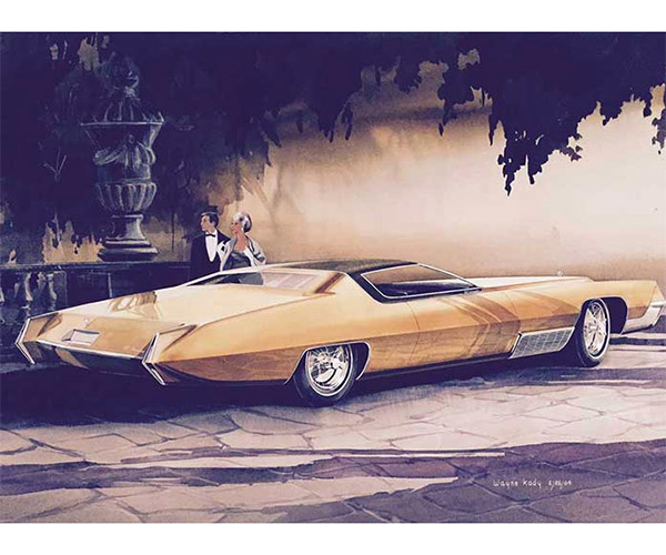 American Dreaming Surfaces Unseen Concept Car Sketches