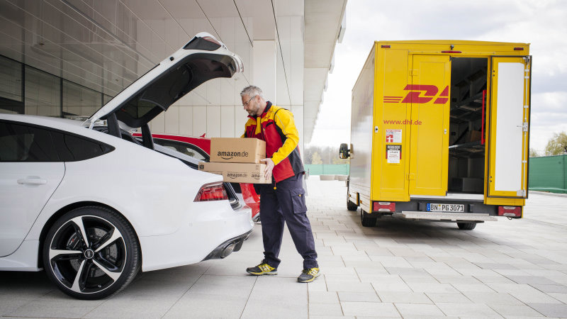 Amazon Prime Delivers to the Trunk of German Audis