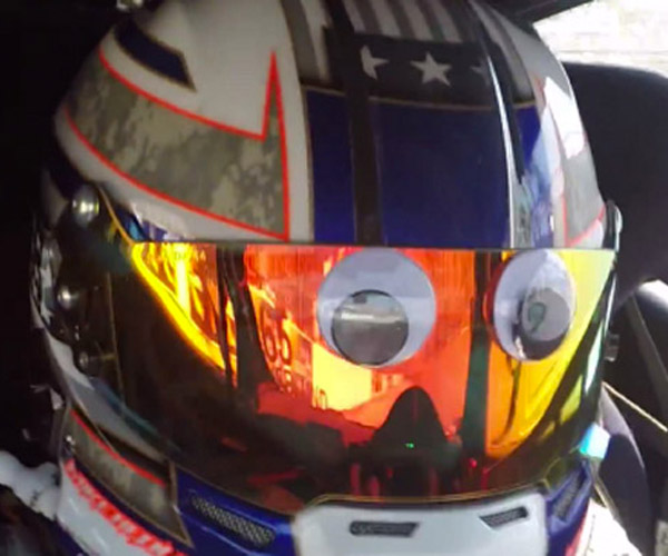 Driver Puts Googly Eyes on His Helmet, Perfect for LeMons Racing