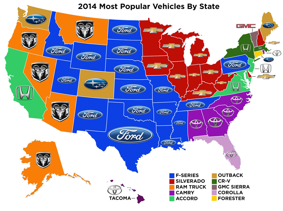 The Most Popular Vehicles By State Might Surprise You 95