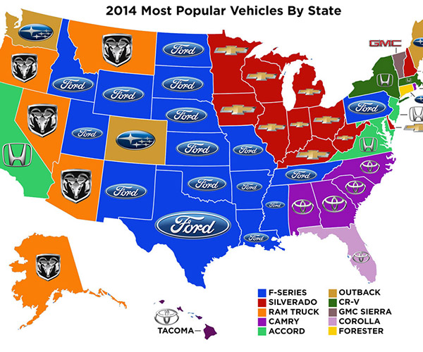 The Most Popular Vehicles by State Might Surprise You