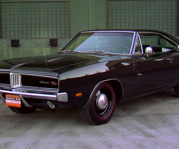 A Beautifully Murdered out 1969 Dodge Charger R/T
