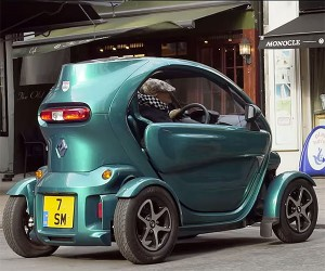 Racing Legend Stirling Moss and His Tiny Twizy
