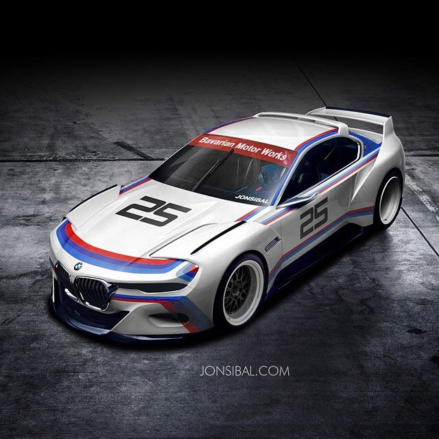 Bmw 3 0 Csl Hommage Concept In Racing Livery 95 Octane