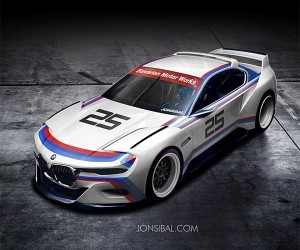 BMW 3.0 CSL Hommage Concept in Racing Livery