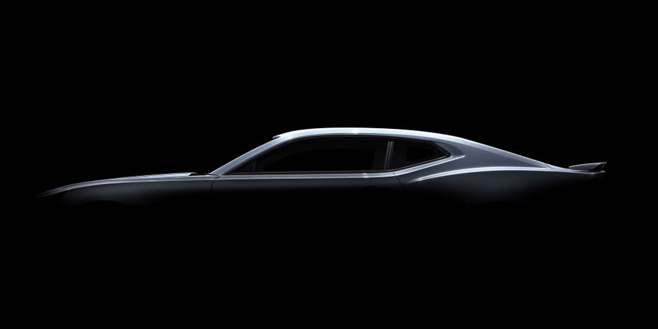 Chevy Teases Again with 2016 Camaro Side View