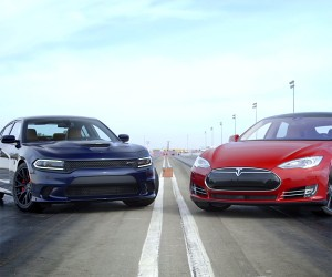 Motor Trend Pits Charger Hellcat Against Tesla P85D