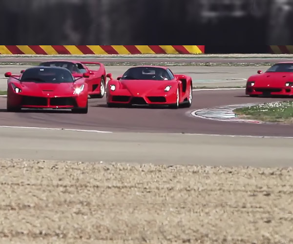 Ferrari Test Driver Got to Play With ALL the Hypercars