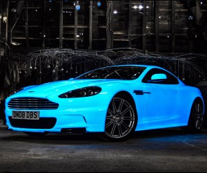 Glow in the Dark Aston Martin Hits Gumball 3000