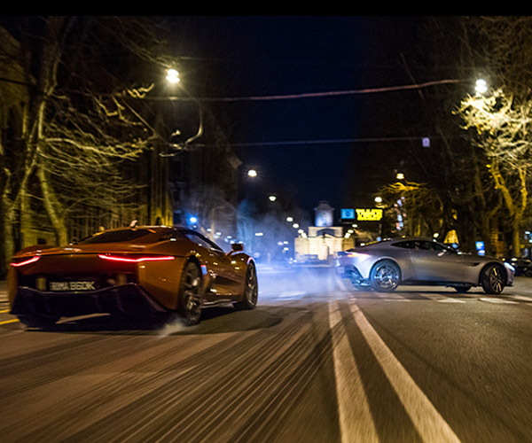 It's Aston Martin vs. Jaguar in James Bond's SPECTRE