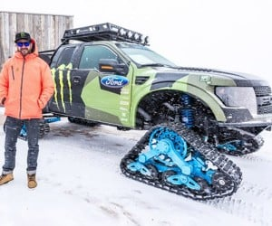 Ken Block Tears up Utah in his RaptorTRAX