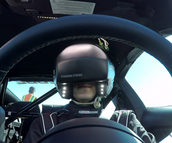 Watch a Racer Drift a Virtual Course… in a Real Mustang