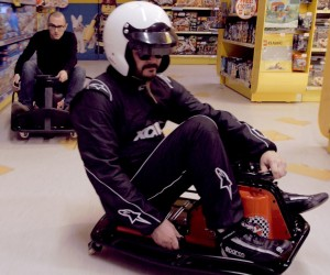 XCAR Rides the Crazy Cart XL in a Toy Store