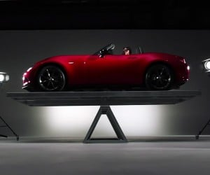 Mazda Demos 2016 MX-5's 50/50 Weight Balance
