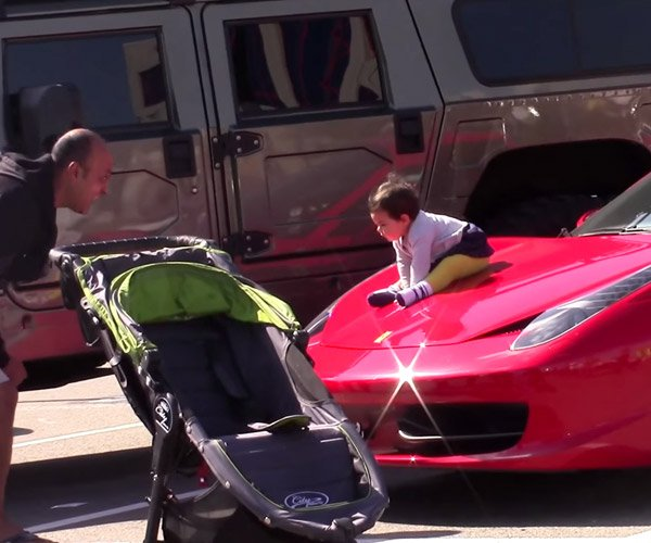 Idiots Put Their Babies on Strangers' Exotic Cars