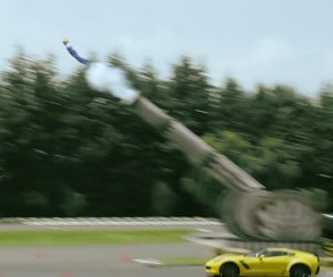 """Corvette Gives New Meaning to """"Cannonball Run"""""""