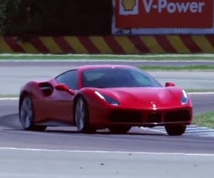 "A Ferrari 488 GTB Goes into ""Full Attack"" Mode"