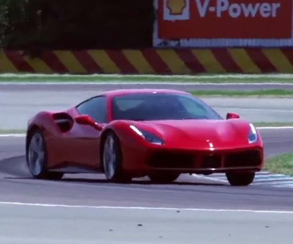 "A Ferrari 488 GTB Goes into ""Full Attack"" Mode"