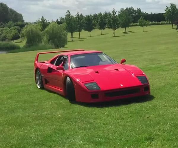 Teen Drifts Classic Ferraris in a Field