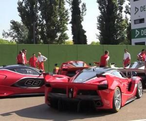 Tracking Four Ferrari FXX Ks