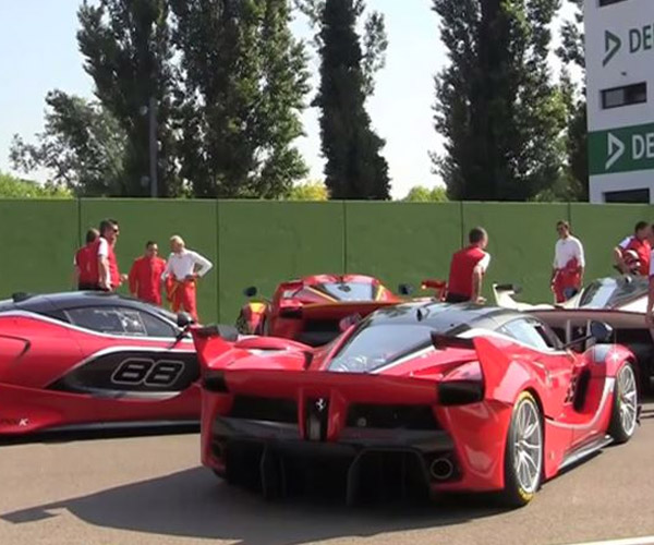 Tracking Four Ferrari FXX Ks