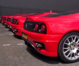 5 Ferrari Challenge Stradales Rev Their Engines