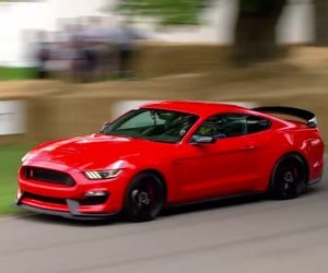 Ford Mustang GT350R Tears up Goodwood Hill Climb
