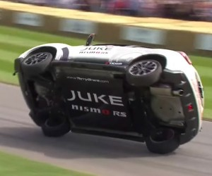 Driver Does Goodwood Hill Climb with Two Wheels off the Ground